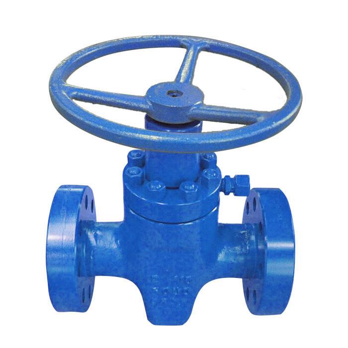 Wkm type expanding gate valve